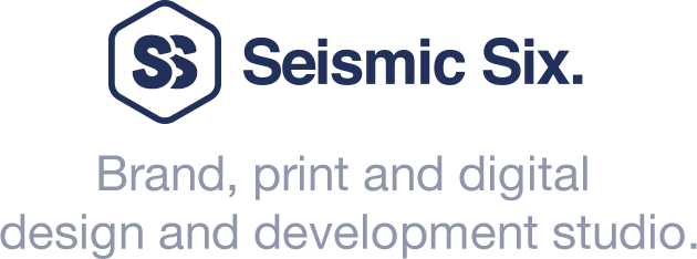 seismicsix - Brand, print and digital design and development studio.